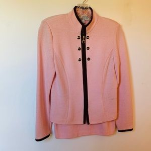 St. John Collection Light Pink Skirt Suit
